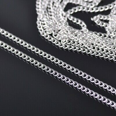 5m 2mm Silver Plated Metal Link Twisted Chain Jewelry DIY Findings Making Crafts