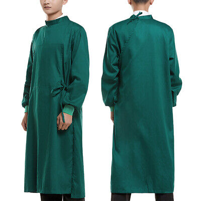 Unisex Surgical Gown Isolation Gown Hospital Dental Medical Uniform Solid Color