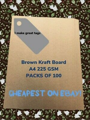 Brown Kraft Paper 100 x Sheets A4 225GSM Natural coloured Card- Premium Quality