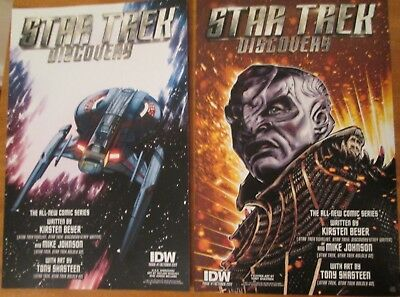 Star Trek Discovery IDW Promo Poster 2017 Comic Con NYCC Enterprise 2 Sided