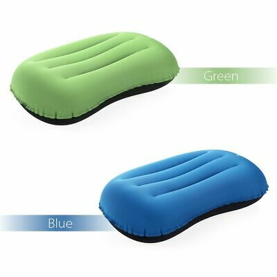 Inflatable Travel Pillow Neck Car Head Rest Air Cushion Camping  Hiking Airplane