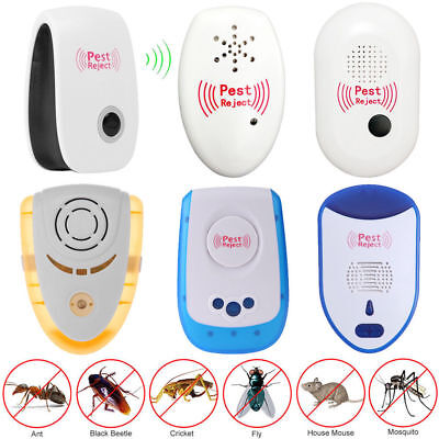 4pcs Electronic Ultrasonic Pest Reject Mosquito Cockroach Mouse Killer Rep US EU