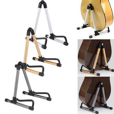 Aluminum Folding Electric Acoustic Bass Guitar Stand A Frame Floor Hanger Holder