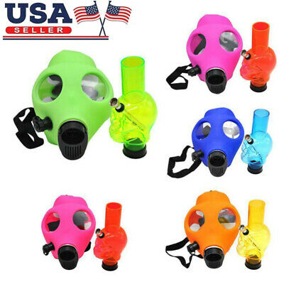 Silicon Gas Mask Bong Hookah Smoking Mix Colors Durable Mask New Free Shipping