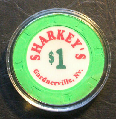 $1. Sharkey's Casino Chip - Gardnerville, Nevada - 1994