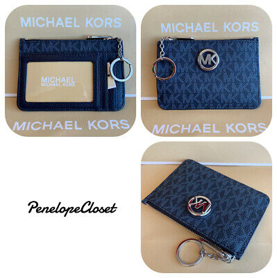 13e4e2ad6a8819 Nwt Michael Kors Pvc Fulton Small Tz Coin Pouch Id Key Wallet In Admiral