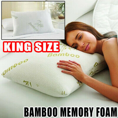 Anti Snore Pillow Bamboo Memory Foam Cooling Orthopaedic Firm Neck Back Pain