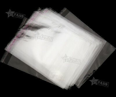100 PCS 2 Sizes Cellophane Clear Resealable Plastic Self Seal Adhesive Bags