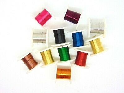 Copper Wire, Tiara Jewellery Making, Beading, Wrapping, 0.3mm 12 colour pack