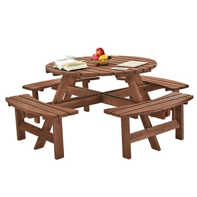 Terrific 8 Seater Outdoor Picnic Table Bench Seat Pub Garden Park Gmtry Best Dining Table And Chair Ideas Images Gmtryco