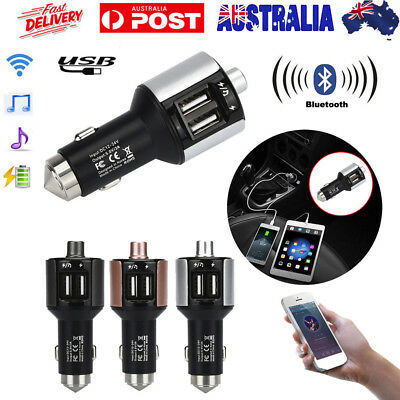 Bluetooth FM Transmitter For Car Wireless Receiver Car Kit with Dual USB Port AU