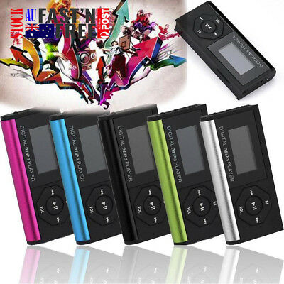 Mini USB MP3 Music Media Player LCD Screen Support 32GB Micro SD TF Card AU