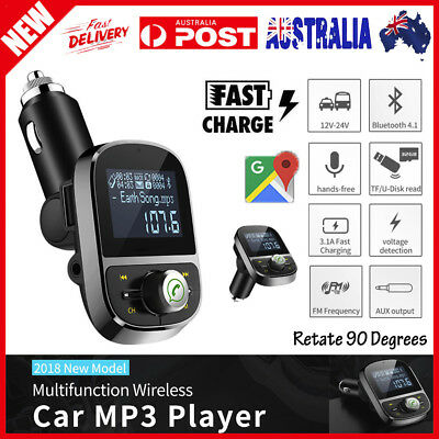 2019 Bluetooth Car FM Transmitter Wireless Radio Adapter USB Charger Mp3 Player