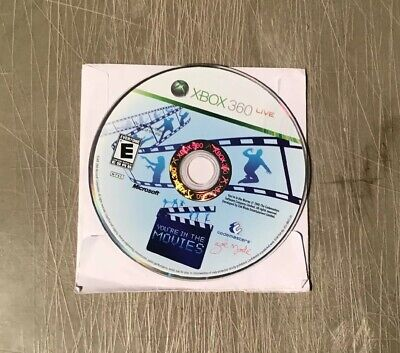 XBOX 360 video game   You're in the Movies  CLEANED   * Tested *  DISC ONLY!