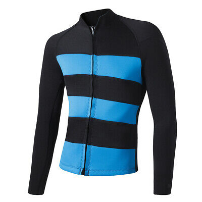 2mm Neoprene Women Wetsuit Diving Surfing Kayak Jacket Top Long Sleeve