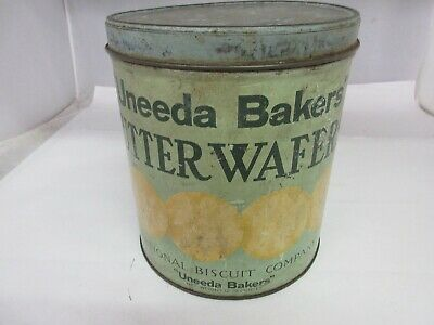 Vintage Advertising Uneeda Bakers Nabisco Waffers Tin    M-639