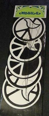 VINTAGE 60s PEACE SIGN 1960'S HIPPIE MOBILE dove 70s art made in Japan Original