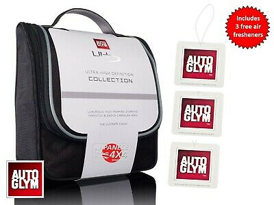 Autoglym **Ultra High Definition Collection** Gift Kit + 3 Free Air Fresheners