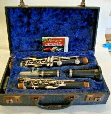 Early 20th century cased blackwood clarinet marked made in England