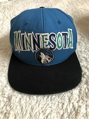 f19209ace196dc Mitchell   Ness Minnesota Timberwolves XL Logo 2-Tone Snapback Adjustable  Hat -