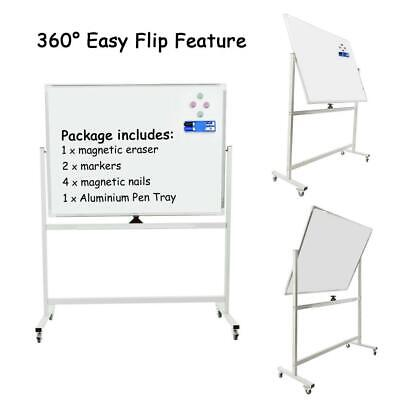 Double-sided Mobile Dry Erase Board with Stand - Magnetic Whiteboard on