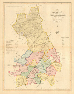 New Map of the County of Cambridgeshire. DUNCAN 1833 old antique chart