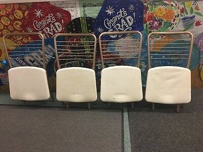 1950's Retro Mid Century COSCO Folding Chairs gate fold vinyl seating vintage
