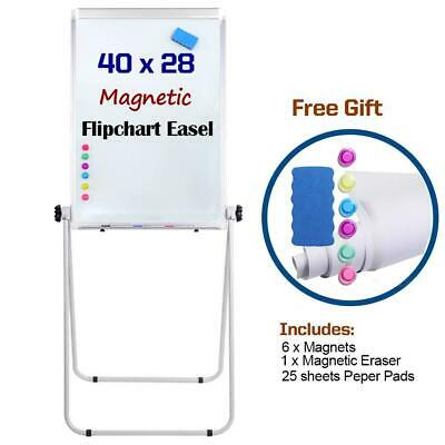 "Portable Double Sided 40"" x28"" Magnetic Dry Erase Board Easel with U-Stand..."
