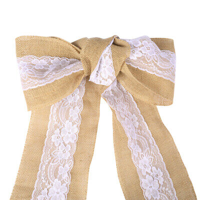 Groovy 200Pc Hessian Sashes Chair Cover Bows Jute Burlap Vintage Pabps2019 Chair Design Images Pabps2019Com