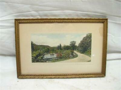 Vintage J.C.Bicknell Hand Colored Photo Where the River Bends Small Print