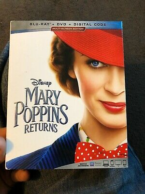 Mary Poppins Returns Blu-ray & DVD 2019 Movie Walt Disney 2 Disc Set Musical Bl