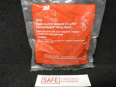 3M 2210 Static ESD Control Ground Cord for Charge-Guard Wrist Strap Coiled N34