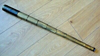 Rare antique brass eight draw telescope made by Rowland Bristol