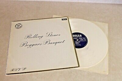 ROLLING STONES BEGGARS BANQUET 1978 Colored VINYL LP Limited Ed. WHITE