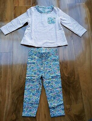 MINI Boden Baby GIRLS Fun SUPERSOFT Appliqué Play Set TOP&PANTS BRAND NEW