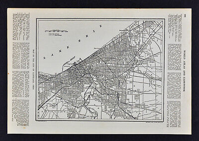 1907 Dodd Mead Map - Cleveland City Plan Lake Erie Guyahoga Ecluid Ohio Canal