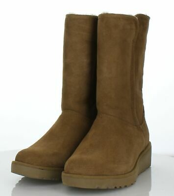 476fb7a0950d0 O10 NEW UGG Amie Chestnut Suede Classic Slim Water Resistant Boot Women s Sz  7 M -  39.99