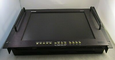 """LILLIPUT RM-7024 7/"""" 3RU Rack Monitors With dual VGA /& Video in//outputs metalcase"""