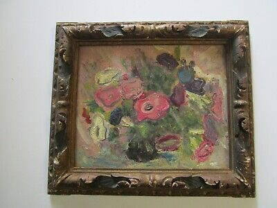 Sterling Strauser Painting Antique Impressionist Expressionist Flowers Modernist