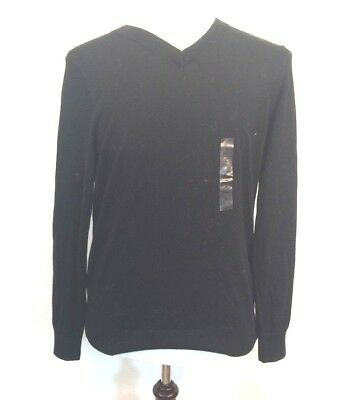 Nautica mens sweater sz M black cotton modal blend new with tags