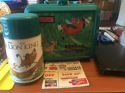 The Lion King Aladdin Lunchbox With Thermos New With Tags Hakuna Matata