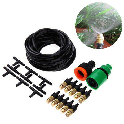 Outdoor Misting Cooling System Garden Irrigation Water Mister Nozzle Set Durable