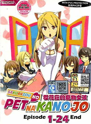 DVD Sakurasou No Pet Na Kanojo ( Eps 1-24 End ) Free Shipping English Subtitles