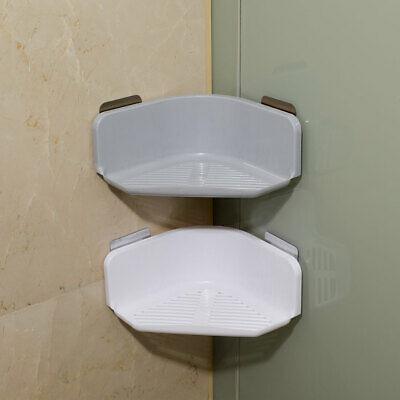 Plastic Shelf Shower Caddies Basket Bathroom Wall Mounted Storage Rack Adhesive