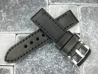 NEW 24mm NEW COW LEATHER STRAP Black Watch BAND PAM R 24 II BKK