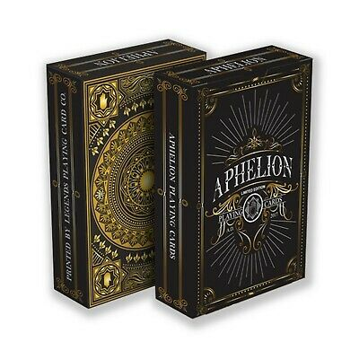 Aphelion Playing Cards Black edition -Deck made for collectors and magicians