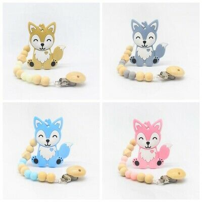 Baby Kids Chain Clip Holders Dummy Pacifier Soother Nipple Leash Strap Teether