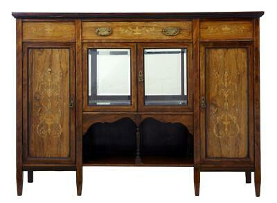 Early 20Th Century Edwardian Inlaid Rosewood Sideboard