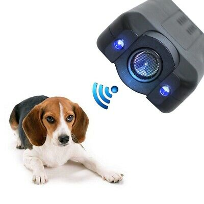Ultrasonic Anti Bark Stop Barking Aggressive Dog Pet Repeller Training Device US