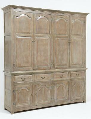 Large Impressive English Made Oak House Keepers Cupboard